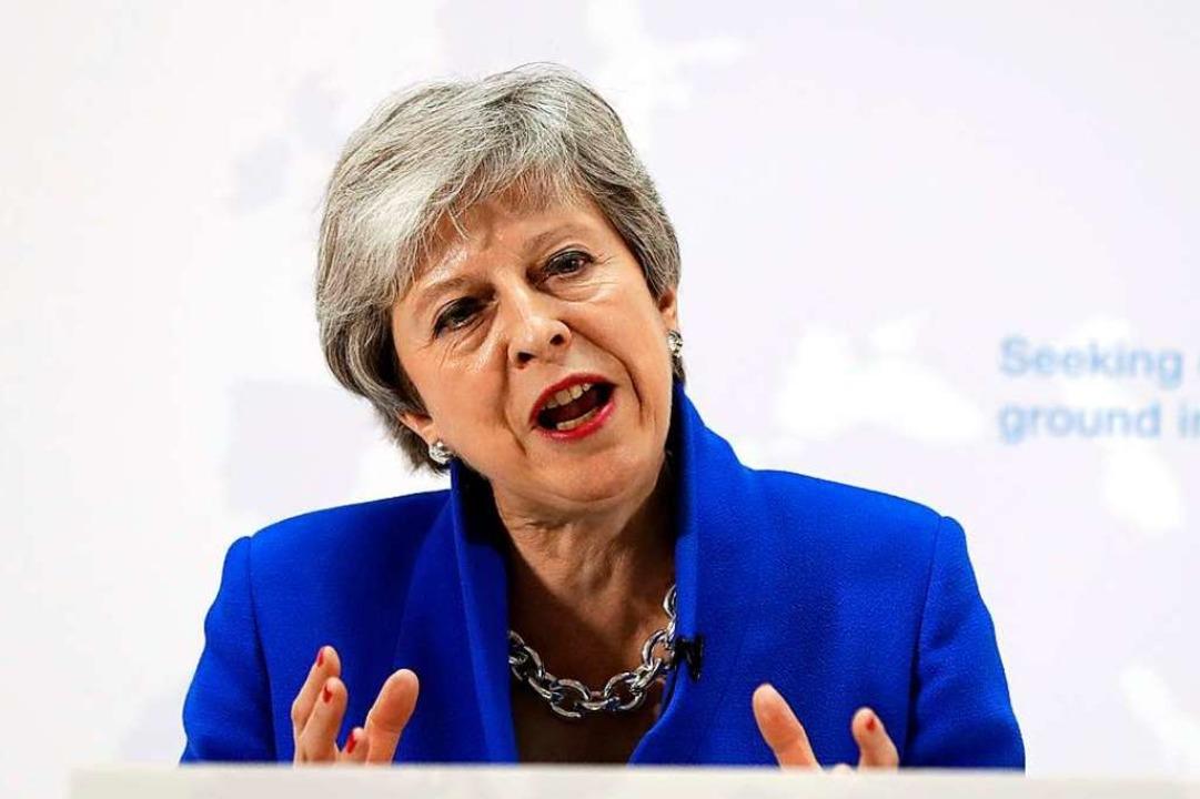 Die britische Premierministerin Theresa May     Foto: KIRSTY WIGGLESWORTH (AFP)