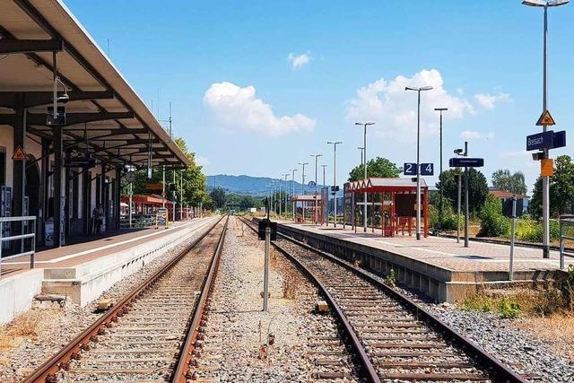Bahnhof in Breisach wird wegen Bahn-Ausbau ab Juni voll gesperrt