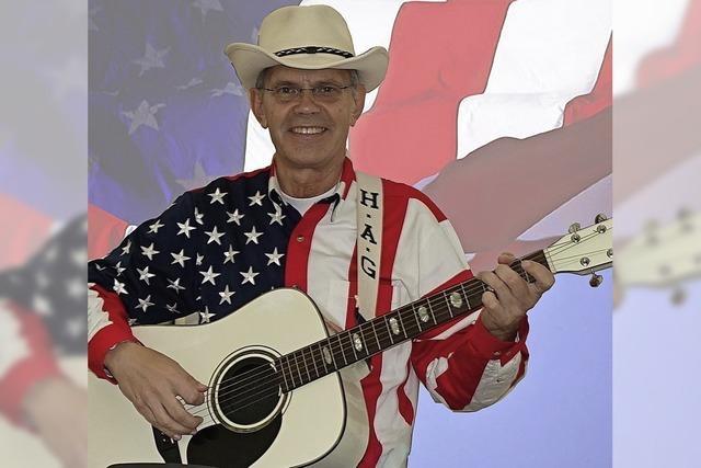 Gitarrist Old H.A.G. spielt beim Country Wester Club Bad Säckingen Country, Western- und Bluegrass-Musik.