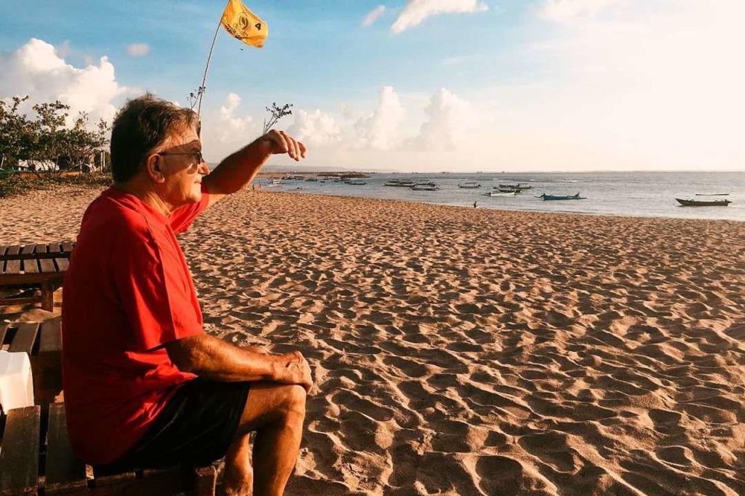Michael Becherer in seinem letzten Urlaub in Indonesien.   | Foto: Privat