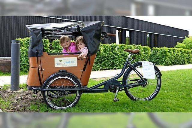 Neues Lastenrad im Kindergarten Elzwiesen