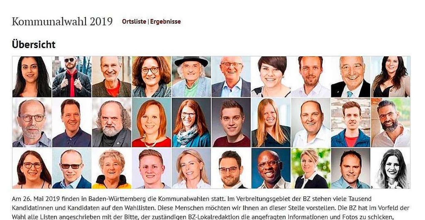 Die BZ präsentiert online alle Kandida...en, die bei der Kommunalwahl antreten.  | Foto: BZ