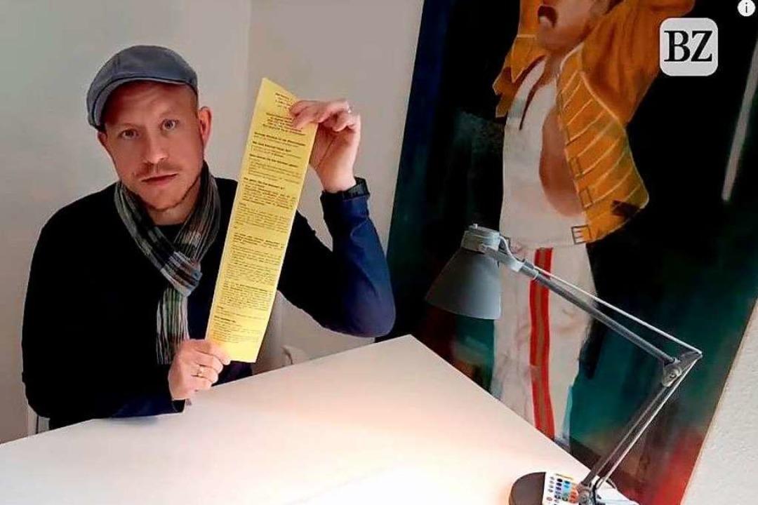 BZ-Redakteur Karl Kovacs erklärt, wie der Lahrer Gemeinderat gewählt wird.  | Foto: BZ