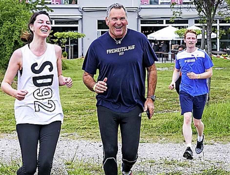 Das macht Spaß: Laufen für einen guten Zweck   | Foto: Susanne Hauber