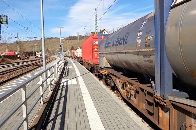 Das Eisenbahnbundesamt suchte Güterzüge in Efringen-Kirchen, fand aber keine