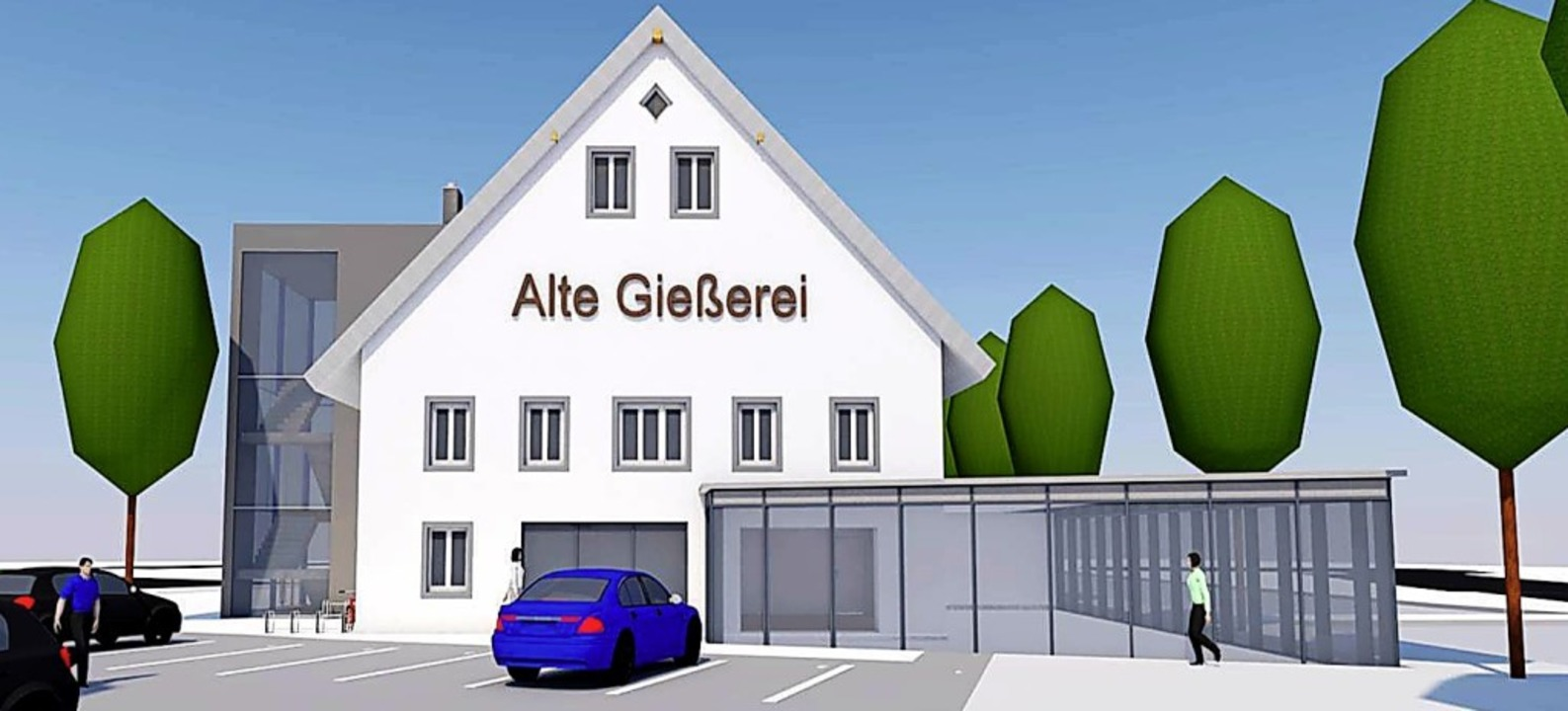 So soll die neue Alte Gießerei nach den Plänen von Beha und Sutter aussehen.   | Foto: Sutter3