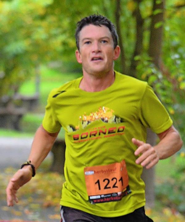 Dritter beim Dreiländerlauf: Frank Adelmann aus Binzen  | Foto: Karl-Hermann Murst