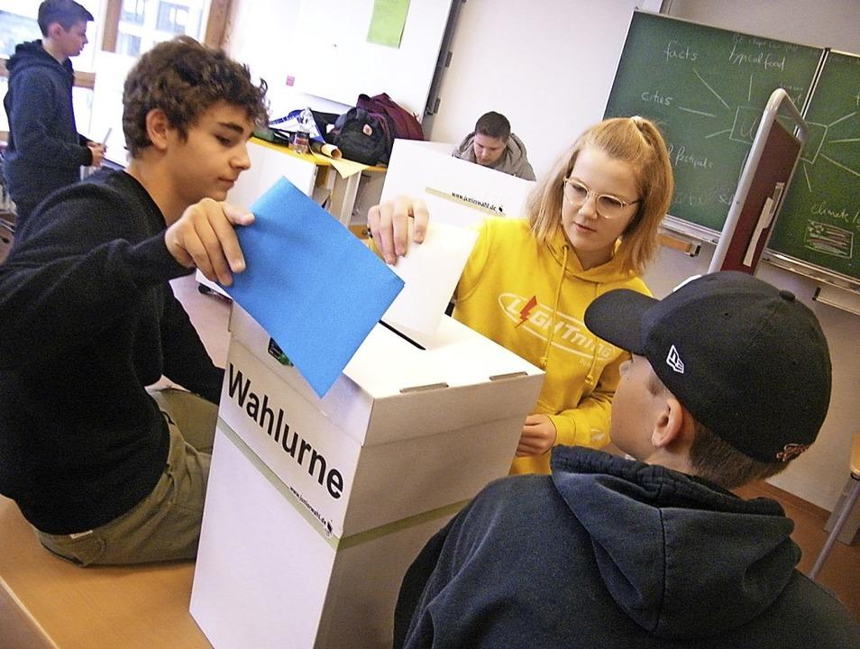 Fleißig abgestimmt wurde bei  der Juniorwahl an der Hebelschule in Schliengen.   | Foto: Christine Aniol