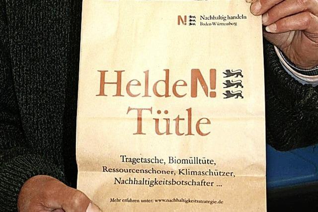 Helden-Tütle und Handy-Recycling