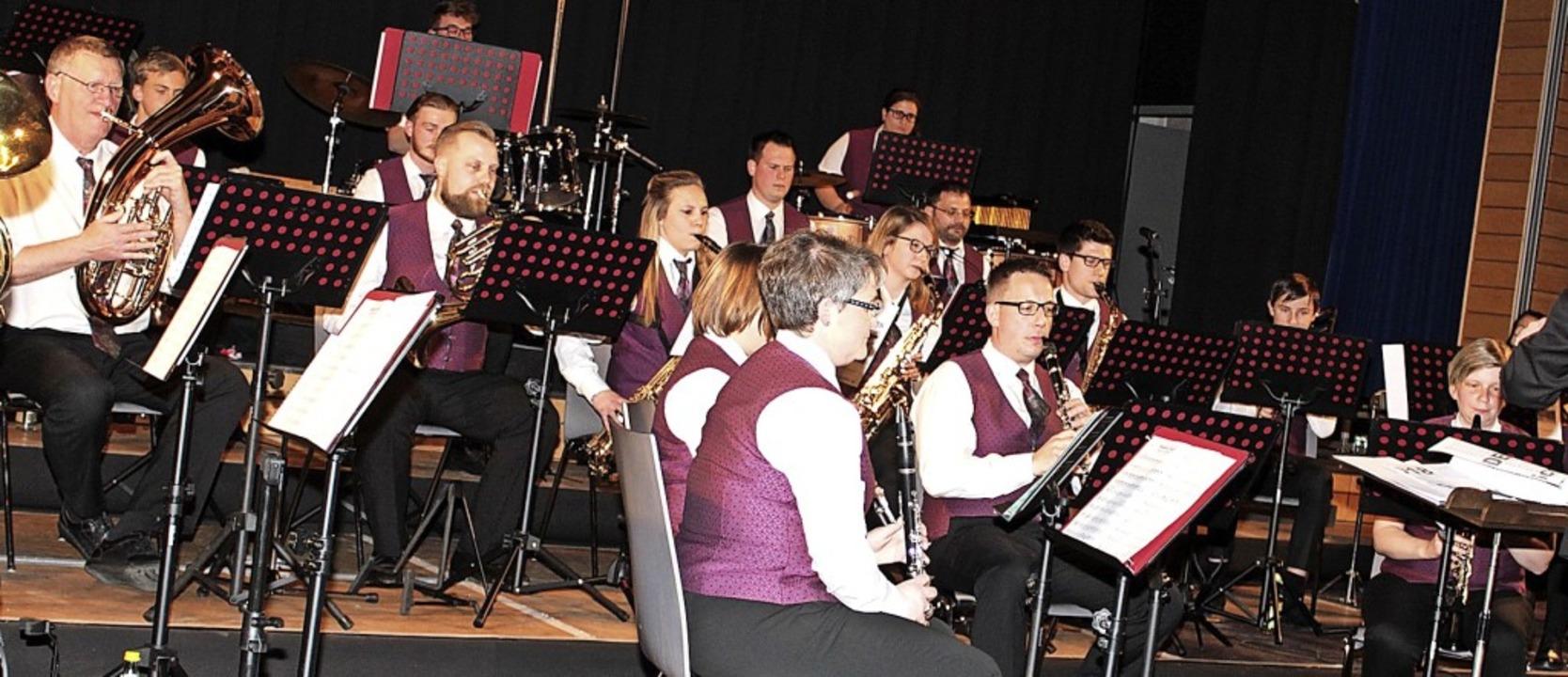 Der Musikverein Maulburg – hier ...insjubiläum am ersten Juniwochenende.   | Foto: Fabry