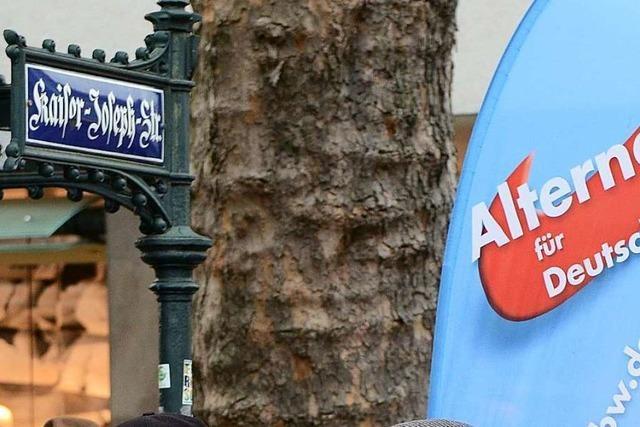 Augenzeugen geben der AfD die Schuld an Gerangel am Wahlkampfstand