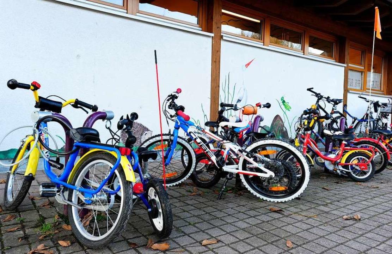 Fahrradparkplatz vor der Kita Löwenzahn (Archivbild).  | Foto: Ingo Schneider