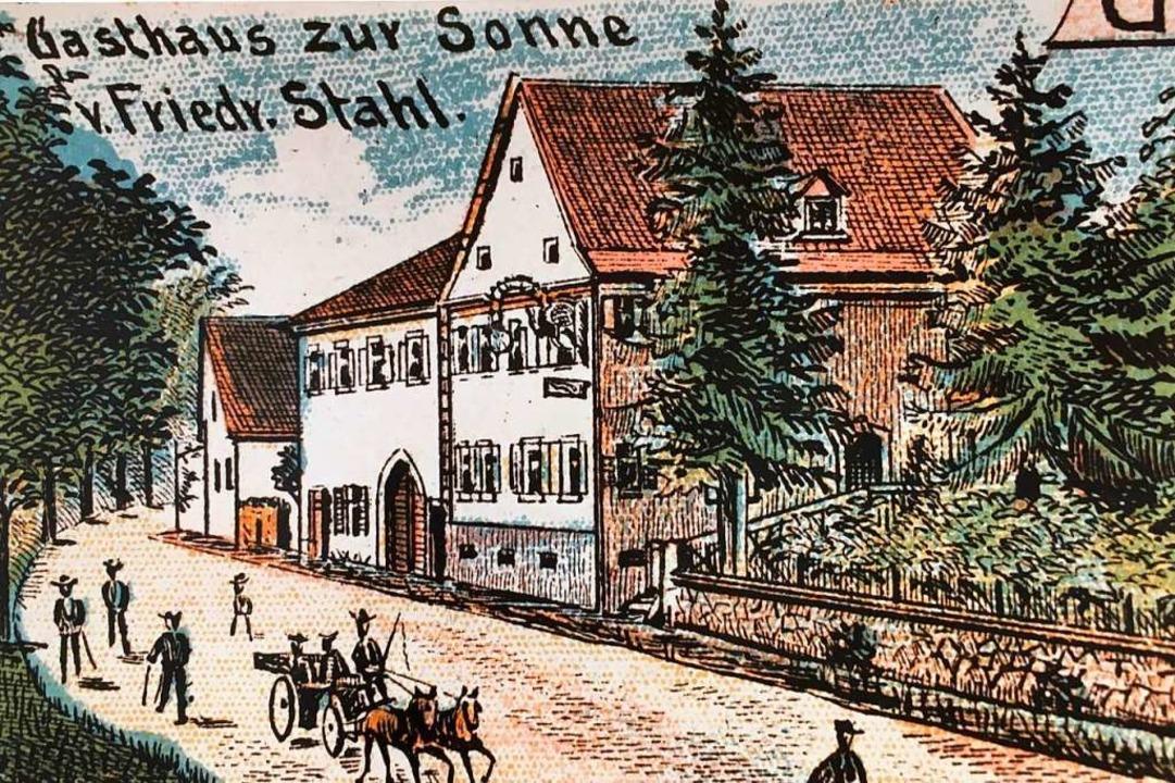 Eine Postkarte aus der Zeit um 1910 ze... Haus damals noch kein Fachwerk hatte.  | Foto: Anja Kunz