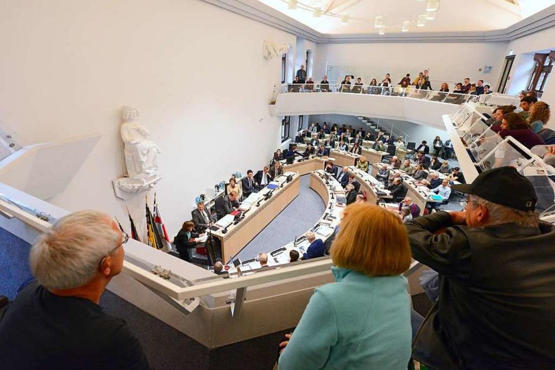 Zuhörer im Freiburger Gemeinderat    Foto: Ingo Schneider
