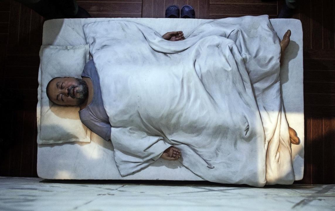 "Ai Weiwei bei der Haft in China: Detai...222;S.A.C.R.E.D"" (2011 bis 2013)  | Foto: Federico Gambarini (dpa)"