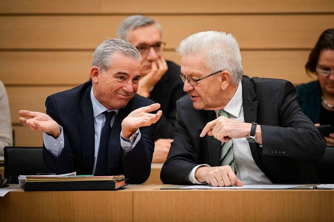 86 Millionen Euro soll Innenminister T...im kommenden Doppelhaushalt einsparen.    Foto: Sina Schuldt