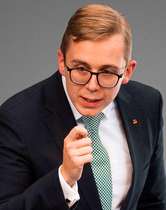 Sauber gescheitelt und konservativ: der CDU-Abgeordnete Phillipp Amthor  | Foto: Annegret Hilse