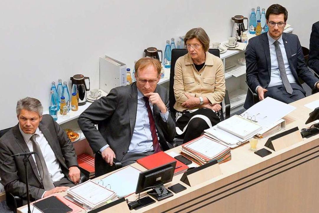 Stefan Breiter (links) und Horn (recht...ulinge an der Spitze des Gemeinderats.    Foto: Ingo Schneider