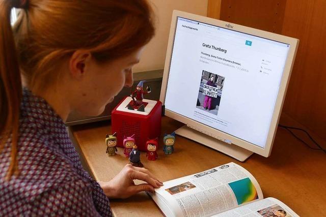 Die Stadtbibliothek Lörrach bietet einen Onlinezugang zum Brockhaus an