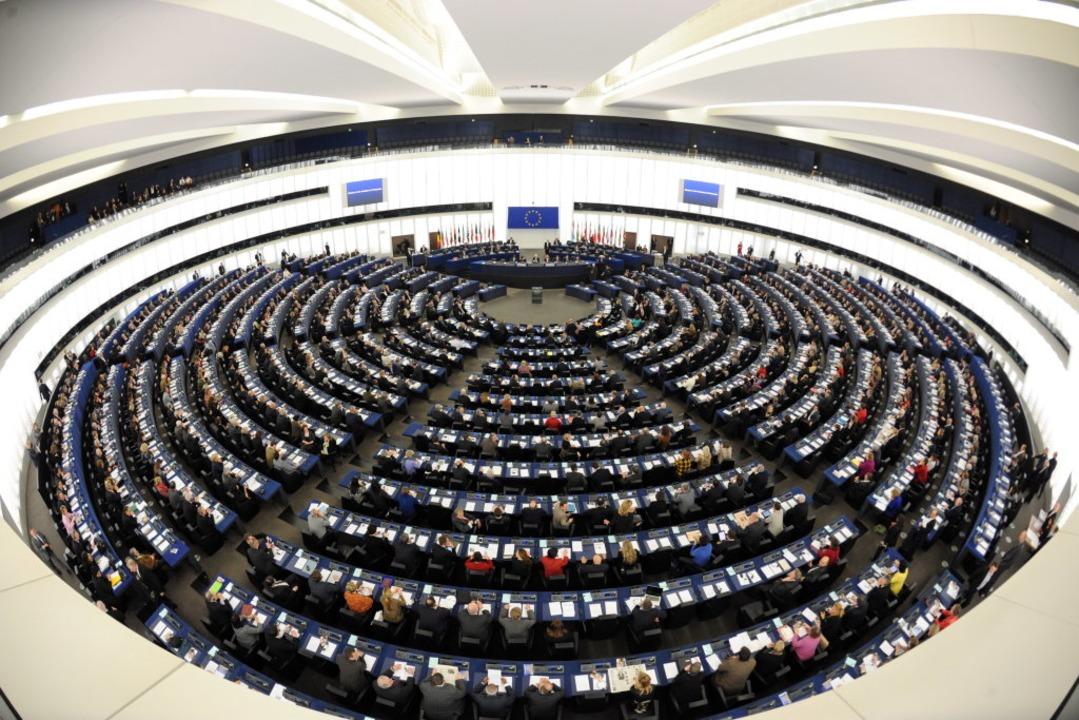 Die Abgeordneten der Mitgliedsstaaten ... Europäischen Parlaments in Straßburg.  | Foto: Patrick Seeger