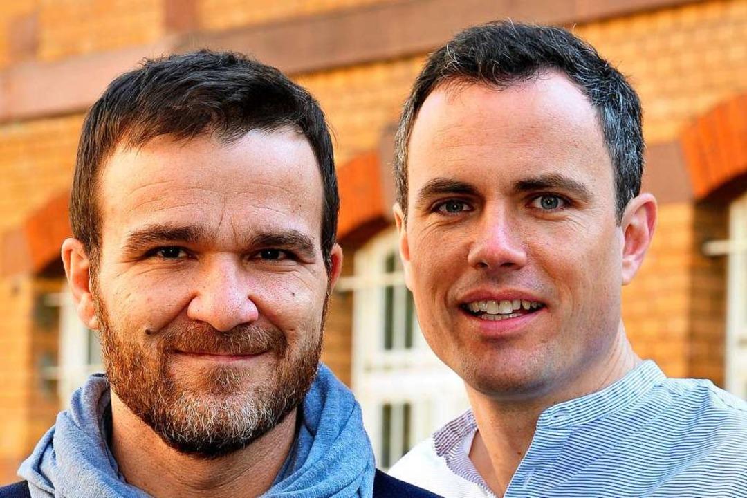 Relounge-Geschäftsführer  Oliver Schmitt (rechts) und Dietmar vom Berg 2013.  | Foto: Thomas Kunz