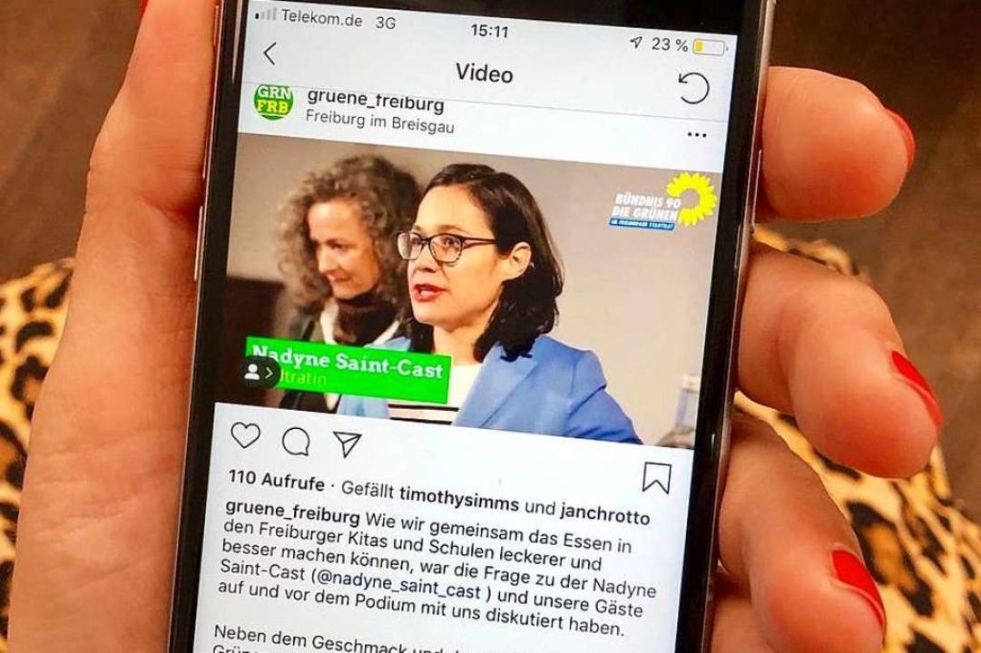 Grünen-Wahlkampfvideo auf Instagram – mit nur 110 Aufrufen.  | Foto: Joachim Röderer