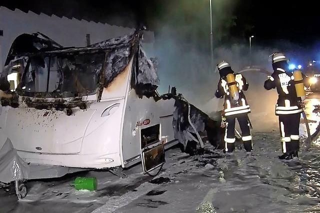 Mahlberg: Caravan brennt aus