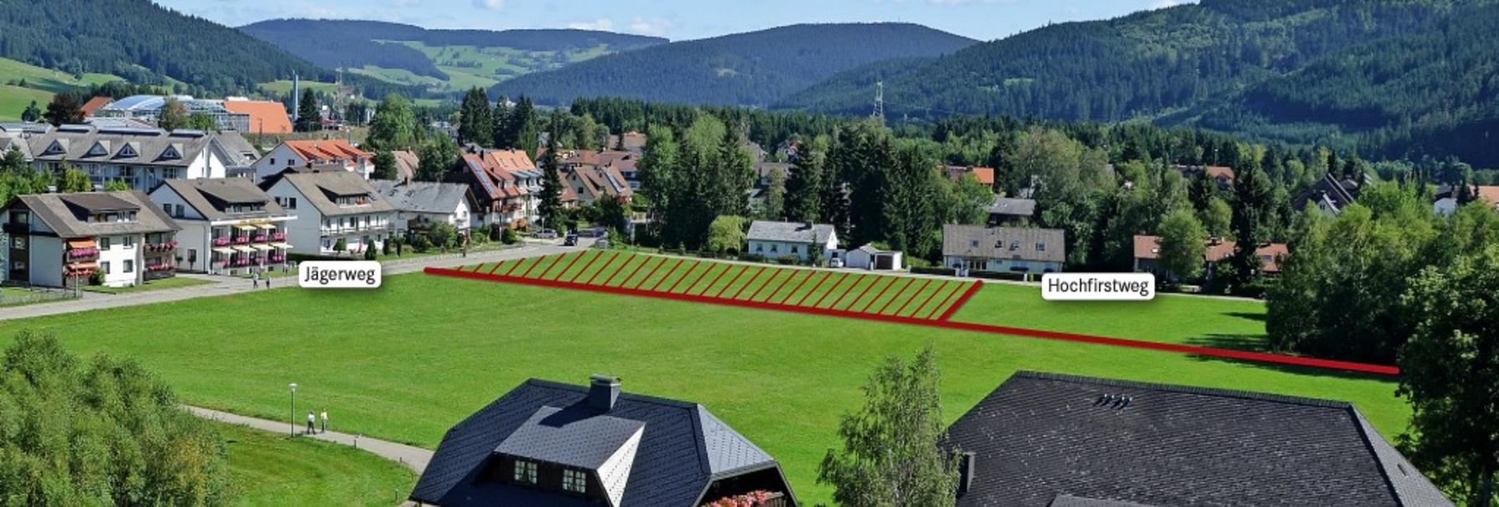 Die rote Linie kennzeichnet das Gesamt...of. <BZ-Foto>Peter Stellmach</BZ-Foto>