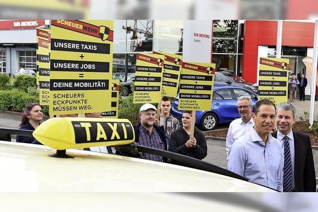 Taxifahrer demonstrieren