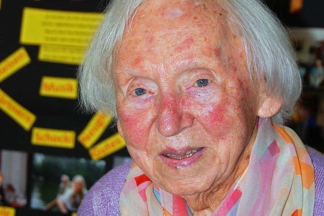 Elise Kaltwasser aus Weil am Rhein ist 100 Jahre alt
