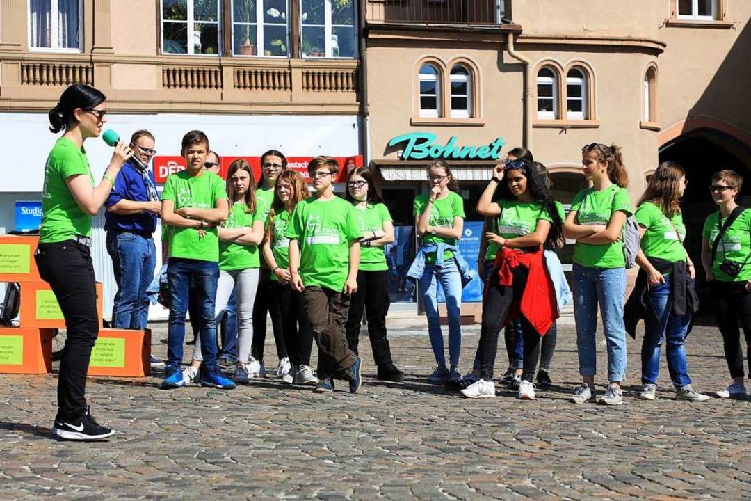 Die Gruppe von Youngcaritas, die an der  72-Stunden-Aktion teilnimmt.    Foto: Christoph Breithaupt