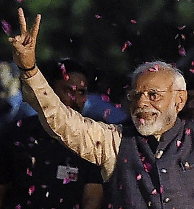 Wahlsieger Narendra Modi  | Foto: MONEY SHARMA (AFP)