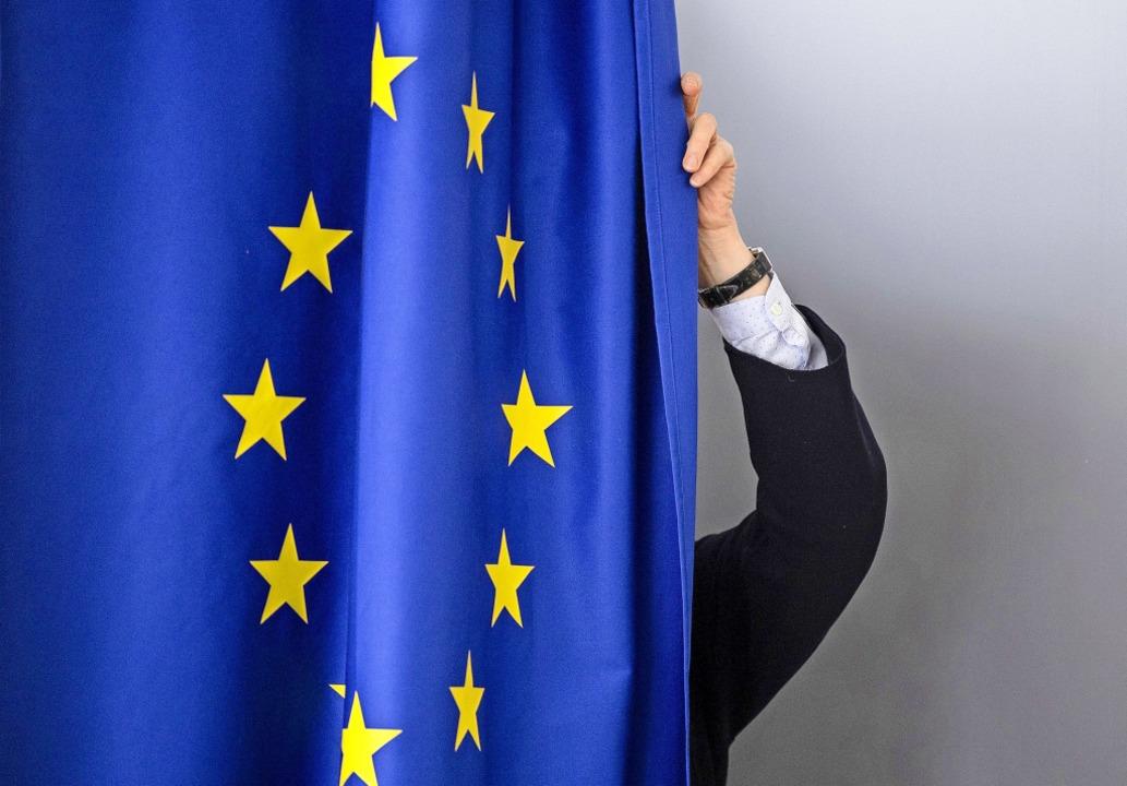 Ab in die Kabine: 418 Millionen Mensch...28 EU-Mitgliedsstaaten haben die Wahl.  | Foto: Boris Roessler (dpa)