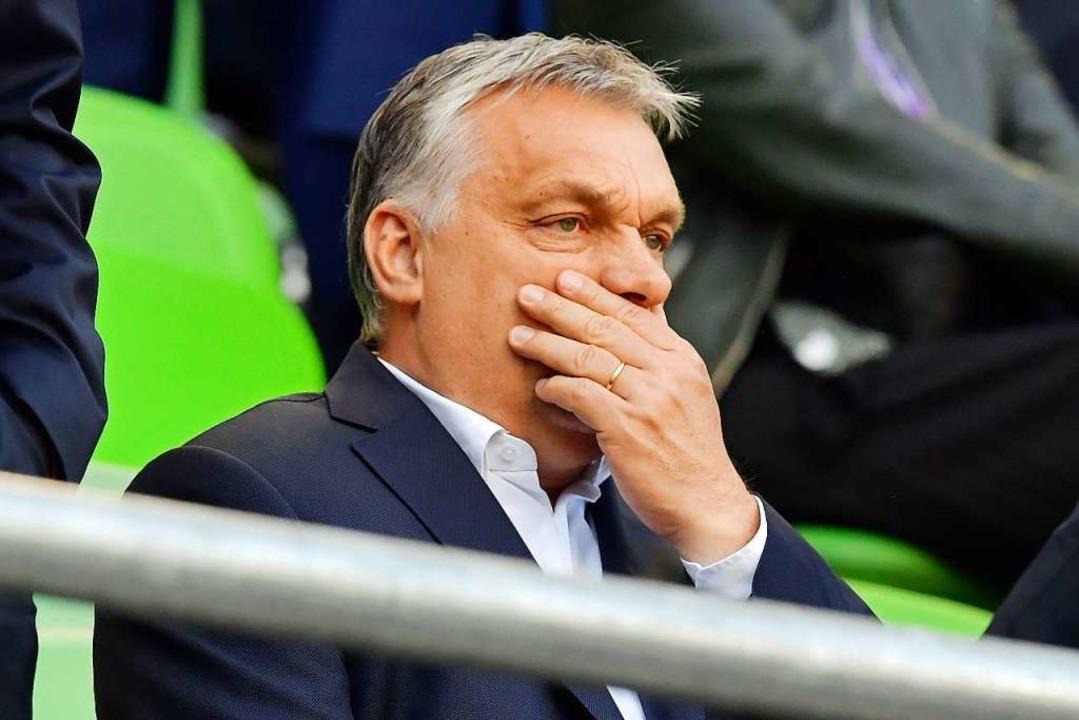 Kein Wort zum FPÖ-Skandal im Nachbarla...Ungarns Ministerpräsident Viktor Orban  | Foto: TOBIAS SCHWARZ (AFP)
