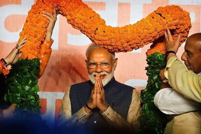 Indische Regierung gewinnt Marathon-Wahl deutlich