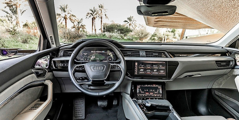 Der Elektro-Audi bleibt dem Stil des Hauses treu.     Foto: Werk