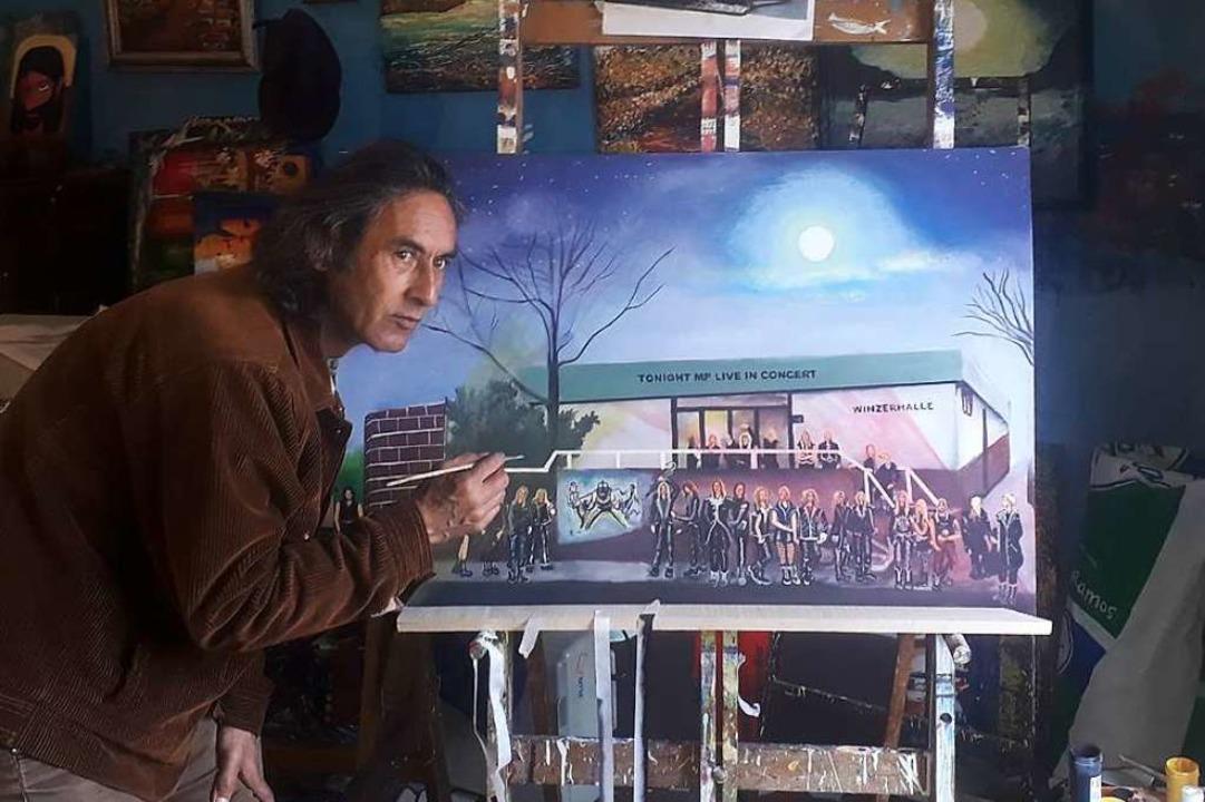 Der kolumbianische Illustrator Lufero,...ringer Halle nach Fotovorlagen gemalt.    Foto: Repulsion Records