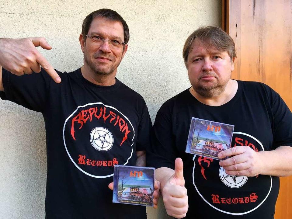 Bandmitglieder Andy Wolk (links) und Thomas Zeller heute    Foto: Privat