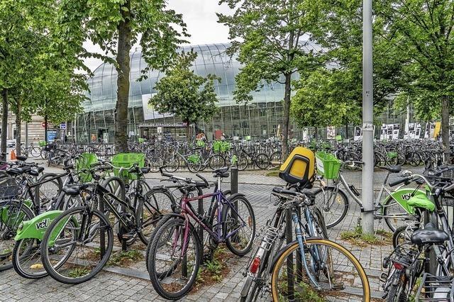 Rund um den Bahnhof bald 3000 Fahrradparkplätze