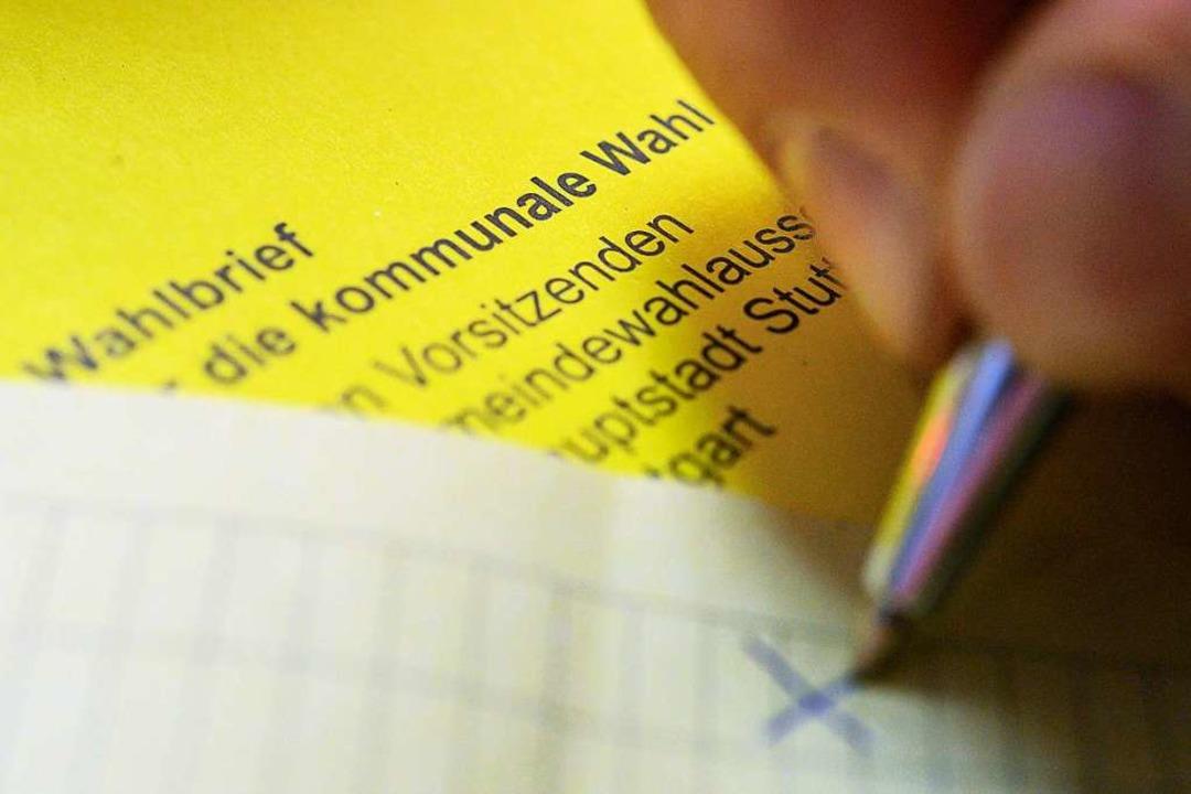 Im Vergleich zur Landtags- oder Bundes...die Kommunalwahl ziemlich kompliziert.  | Foto: Sebastian Gollnow (dpa)