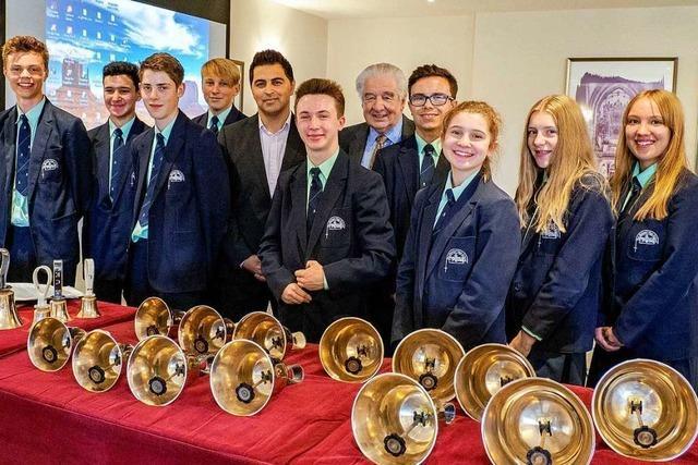 Die Bishops' Handbell Ringers aus Chester sind zu Gast in Lörrach