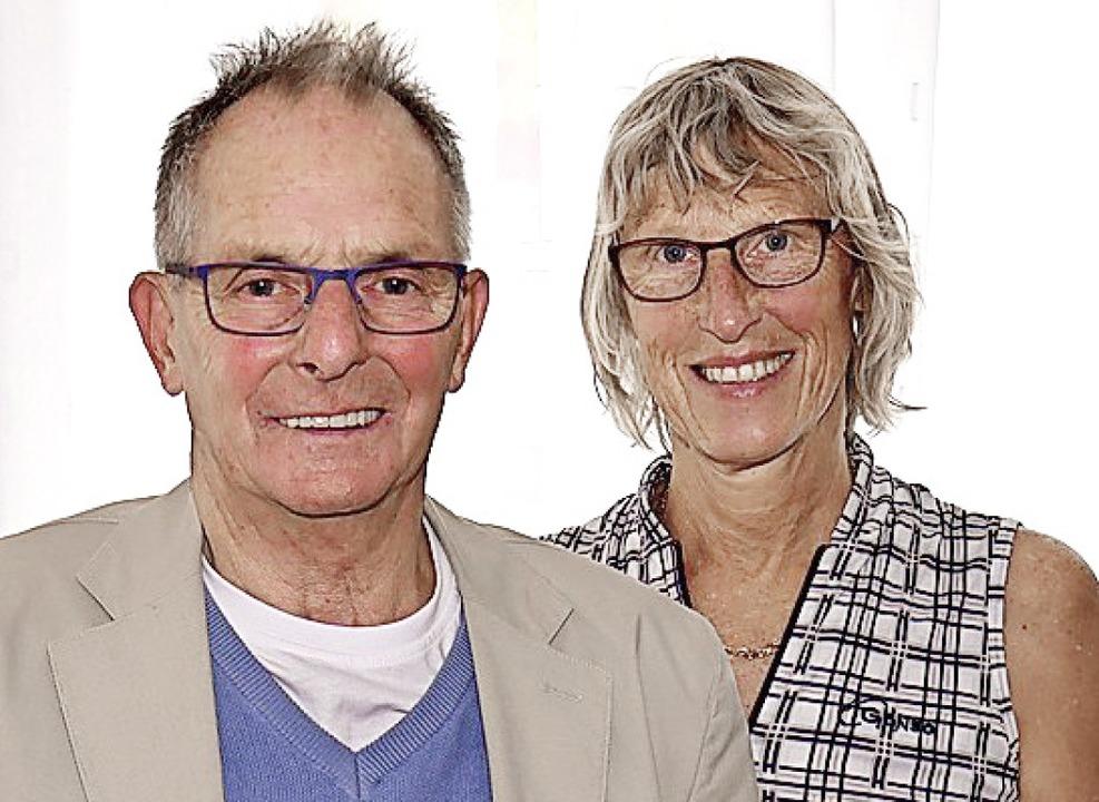 Neu im Vorstand sind: Egon Schlegel (l... Bernadette Schlosser als Kassiererin.  | Foto: Eva Korinth