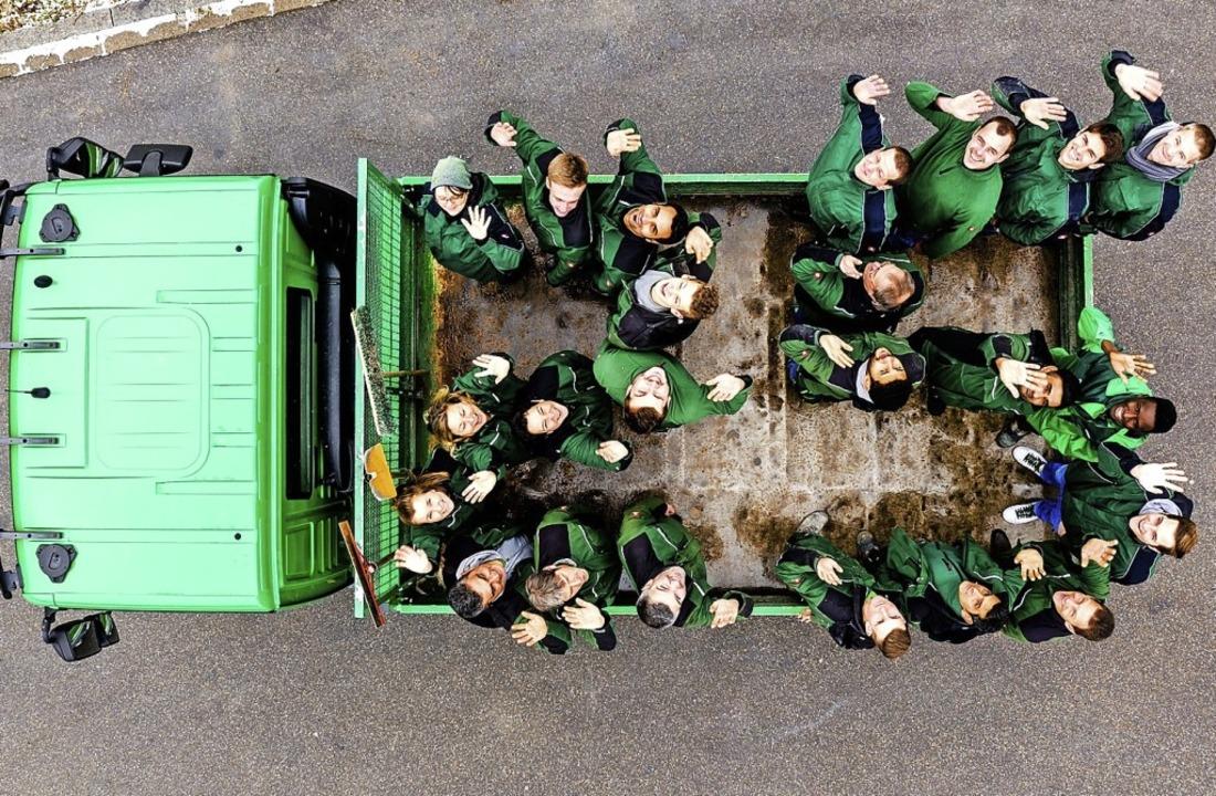 Das Team Grün Furtner-Althaus feiert  ...e Übergabe an die nächste Generation.   | Foto: Team Grün Furtner-Althaus