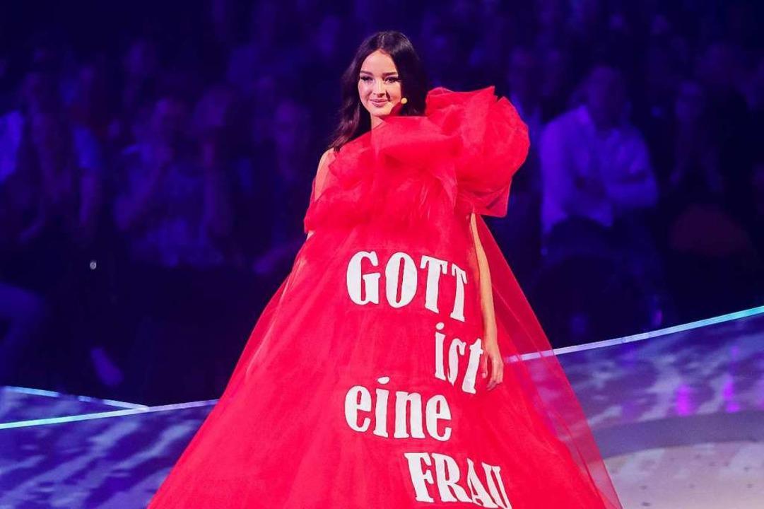 Cäcilia Zimmer aus Freiburg schaffte e...t Topmodel 2019 auf den dritten Platz.  | Foto: Rolf Vennenbernd (dpa)