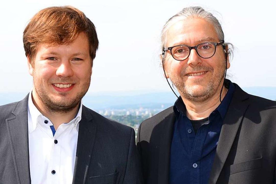 Alexander Nöltner (links) und Gerd Haasis.  | Foto: Stadt Lörrach