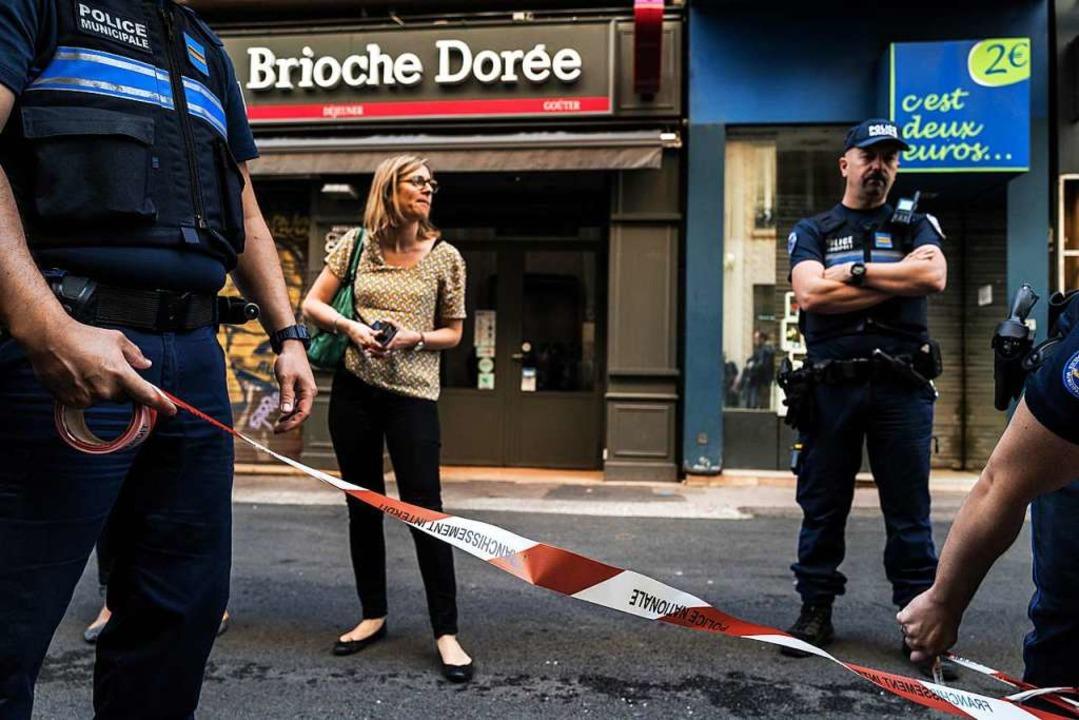 In Lyon kam es am Freitagabend zu einer Explosion.  | Foto: JEFF PACHOUD (AFP)