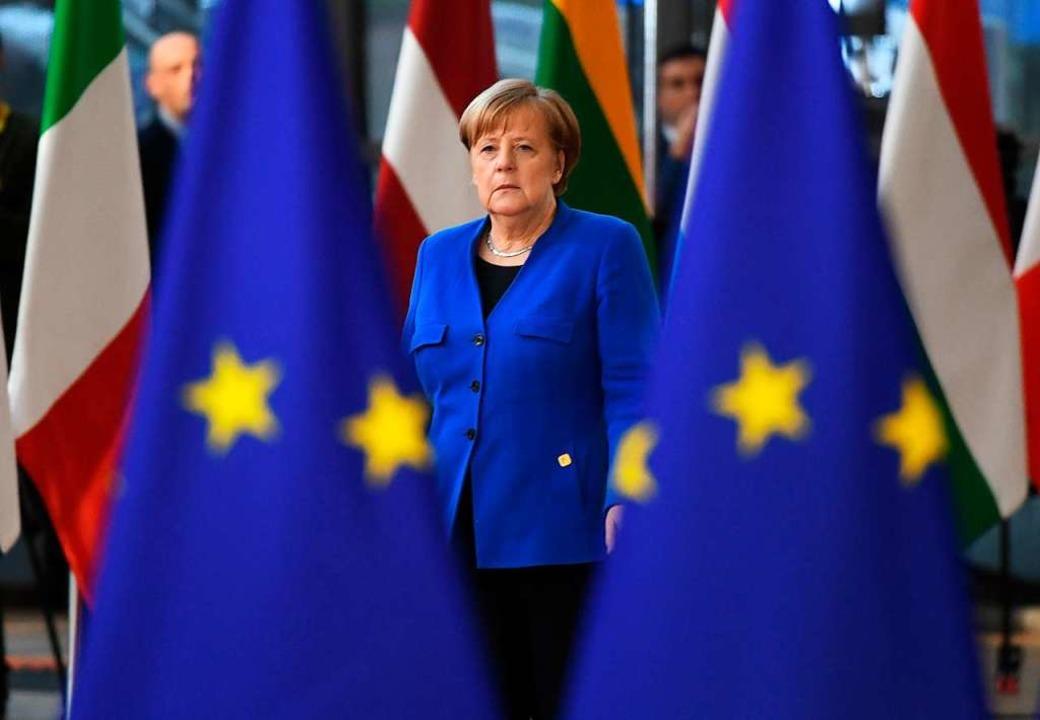 Was die Europawahl am Sonntag für sie ...ch Kanzlerin Angela Merkel noch nicht.  | Foto: Stefan Rousseau