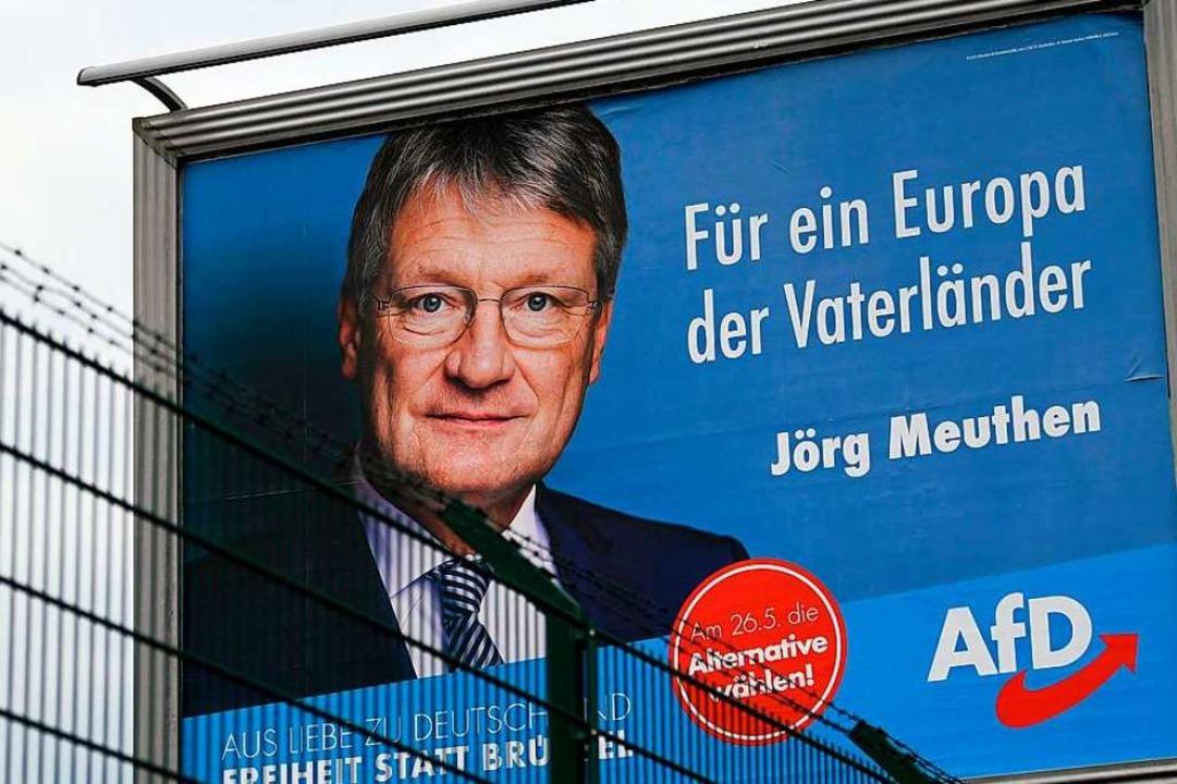 Wahlplakat der AfD    Foto: INA FASSBENDER (AFP)