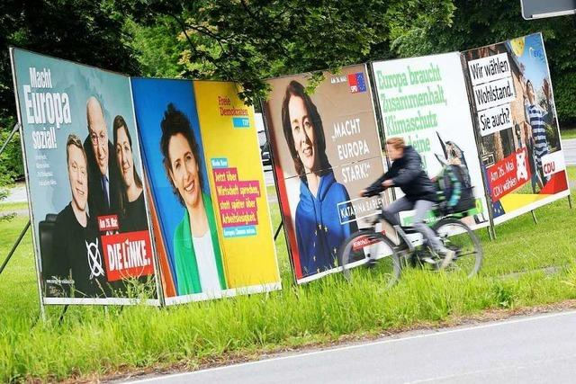 Live-Blog zur Europawahl: Mehr Grün, weniger Schwarz und Rot