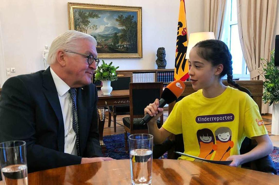 Kinder an der Sendung zu beteiligen, i...espräsidenten Frank-Walter Steinmeier.  | Foto: Klippel Nina